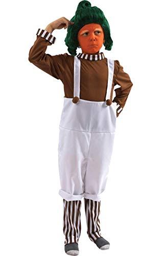 (Schokoladenfabrikarbeiter Kostüm für Kinder (MIT PERÜCKE) Small)