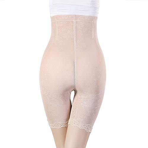 Rabbiter Damen Shapewear Figurformender,Spitze Atmungsaktiv Formende Bodys, Elegant Hohe Taille Taillenformer angenehm Shaping Bodysuit mit Haken - 4