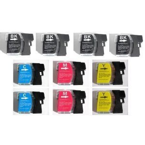 toner-tinten-fuchs-10-cartucce-per-stampanti-brother-mfc-5890cn-2-ciano-2-gialle-2-magenta-4-nere