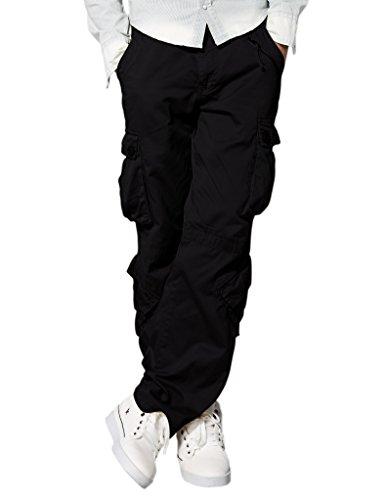 Match Pantalons Cargo pour Hommes #3357(3357 Noir(Black),32(FR 42))