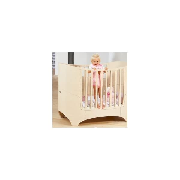 "Leander bed, beech white wash  'White Glaze ""White Wash = with visible wood grain Can be used from babies first day to school age Including all mattress and slatted frame parts 4"