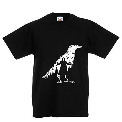 lepni.me Kinder Jungen/Mädchen T-Shirt Die Krähe - die Toten und die verlorenen Seelen (5-6 Years Schwarz Mehrfarben)