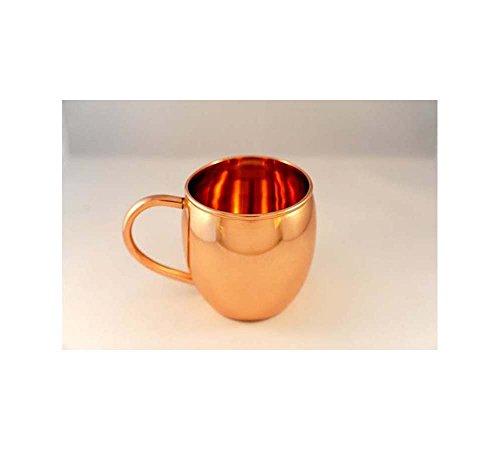 Copper Barrel Mug Plain With C-Shape Handle 16 Oz 16 Oz Barrel Mug