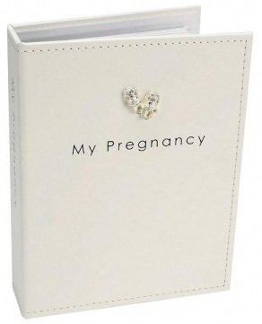 Cream Pregnancy Journal with Guidelines & Pages