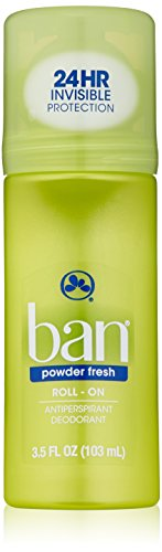 Ban Roll-On Antiperspirant Deodorant, Powder Fresh, 3.5-Ounce by Ban