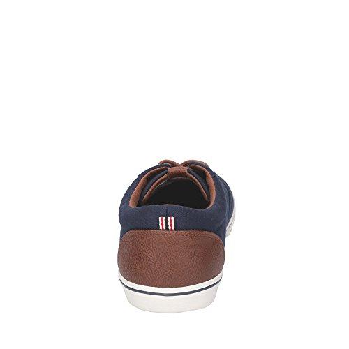 JACK & JONES Herren Jfwvision Chambray Mix SS Anthracite Sneaker Marineblau