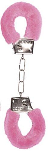 Handschellen-Metall mit pink Plüsch | Plüsch-Handschellen