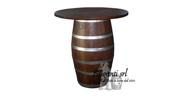 Briganti ttb tavolo bar pub da botte in castagno h diam