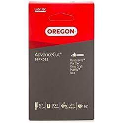 Oregon AdvanceCut 91PX Chaîne de tronçonneuse pour équiper les Tronçonneuses 45 cm Bosch, Dolmar, Gardol, Greenworks, Mac Allister, Matrix, Scheppach, 62 Maillons Entraineurs