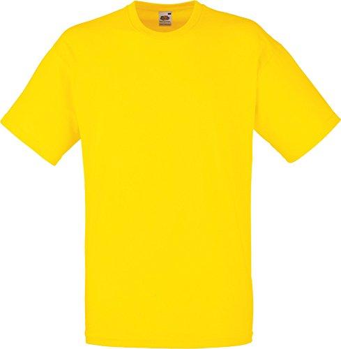 Fruit Of The Loom Herren Kurzarm T-Shirt XXL,Gelb