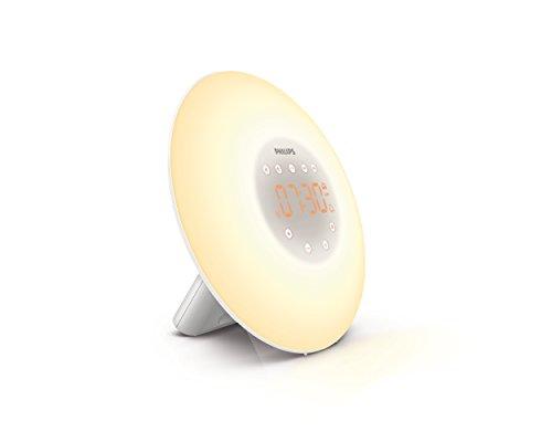 Philips Wake Up Light with Sunrise Simulation and Radio, White, HF3505