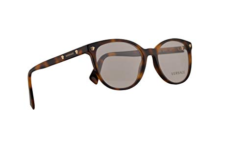 Versace VE3256 Brillen 52-17-140 Braun Havana Mit Demonstrationsgläsern 5264 VE 3256