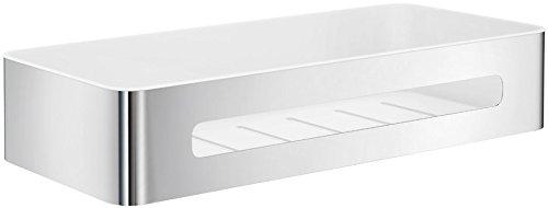 SMEDBO SIDELINE Design Seifenkorb Duschkorb mit weißem Einsatz aus ABS-Kunststoff DK4001 (Smedbo Sideline Bad)
