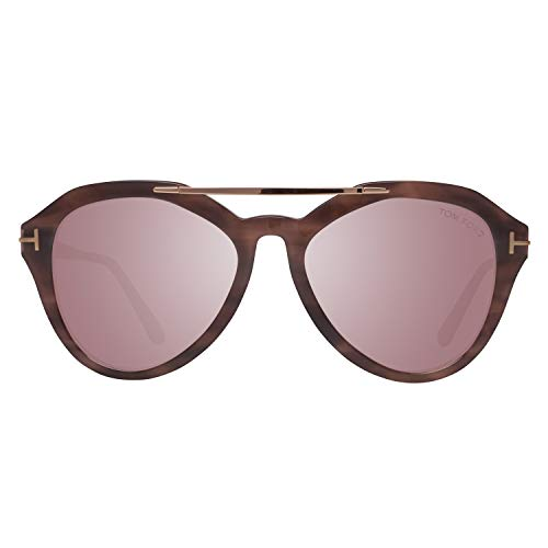 Tom Ford Damen FT0576 55Z 54 Sonnenbrille, Braun,