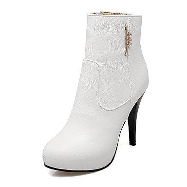 Rtry Femmes Chaussures Similicuir Mode Hiver Bottes Bottes Bootie Talon Stiletto Bout Rond Cheville Bottes / Cheville Bottes Glitter Mousseux Zipper Pour Us10.5 / Eu42 / Uk8.5 / Cn43