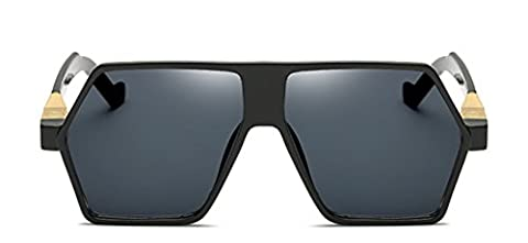 Unregelmäßige Frau Sonnenbrille Im Retro-Stil Hip-Hop,1-138×50mm (Hip Hop Mode Sonnenbrillen)