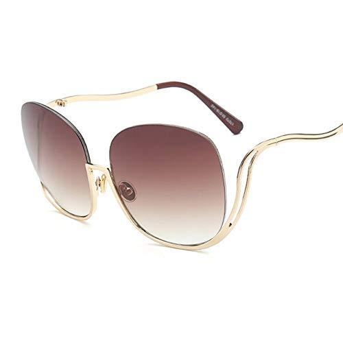 Sonnenbrillen. Sonnenbrille Frauen Luxusmarke Designer Oversized Runde Sonnenbrille Damen Gradient Schattierungen Klar Brillen Outdoor Reisen Sommer Staub Uv400 Double Tee