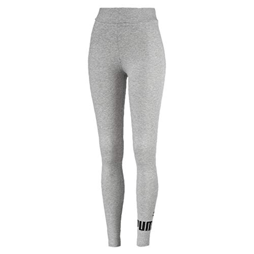 PUMA Damen ESS Logo Leggings Hose, Light Gray Heather, M