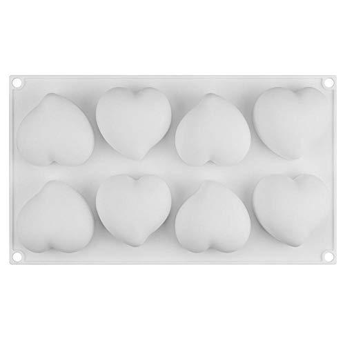 Eisform Silikonform für Mousse Kuchen Herz Hochzeit 3D Silikonformen Kuchen dekorieren Tools Backformen Dessert Formen Eis am Stiel hersteller (Herz Kuchen Dekorieren)