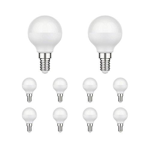 parlat E14 LED Leuchtmittel G45 4,6W =35W 350lm 130° warm-weiß, 10 STK. -