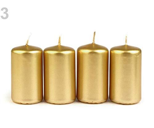 1set 3 Dunkel-gold Kerzen Set, Und Kerzenhalter, Kerzen, Leuchter, Dekoration