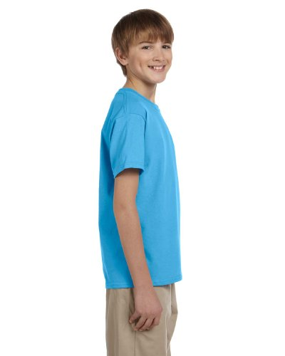 Fruit of the Loom Unisex-Kinder T-Shirt aus Baumwolle Blau - Blau (Aquatic Blue)