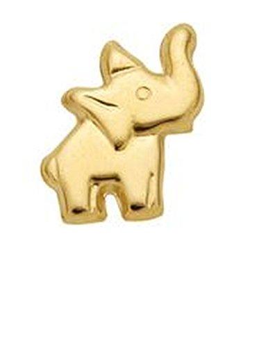 Elefant pendientes de 333 oro