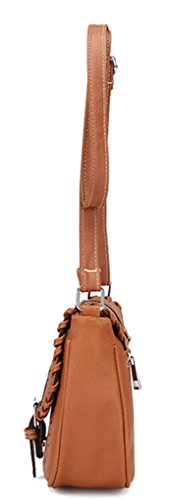Keshi Cool Damen Handtaschen, Hobo-Bags, Schultertaschen, Beutel, Beuteltaschen, Trend-Bags, Velours, Veloursleder, Wildleder, Tasche Rot