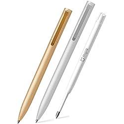 Original Xiaomi Mijia Metal Sign Plugs Smooth Suiza Refill 0.5Mm Firma Bolígrafos Mi Aluminio Aleación Plumas Dos Paquetes