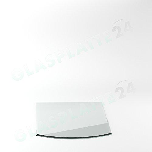 Preisvergleich Produktbild Funkenschutzplatte Form G6 Glasplatte Bodenplatte Kaminplatte Funkenschutz Ofenplatte Kaminglas Funkenschutzplatte 6mm ESG Glas T: 1100mm x B: 850mm