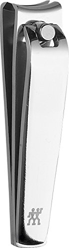 Zwilling Classic Inox Etui Maniküre Pediküre Pinzette Nagelfeile Nagelknipser Rindleder Druckknopf Pflege Set 3-tlg. lila 97644-008-0