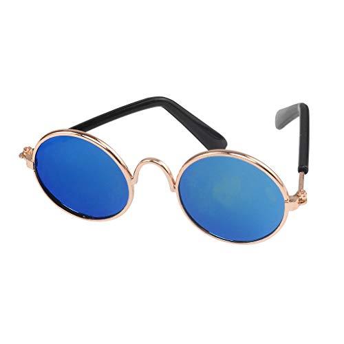 Demino Kleintiere Hunde Katzen UV-Sonnenschutzbrillen Welpen Kitten Sommer Grooming Fotografie Sonnenbrille Blau 8 * 7.3cm