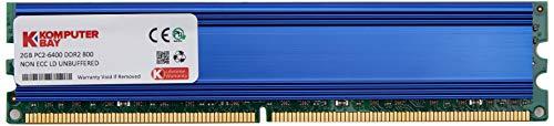 Komputerbay 2GB 240pin 800MHz PC2-6400/PC2-6300DDR2DIMM Desktop RAM-Speicher mit Hitzeverteilern, rot (Desktop Ram Ddr2)