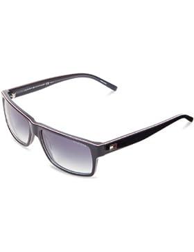Tommy Hilfiger 1042/N Blue / Red / White / Dark Blue Gradient Kunststoffgestell Sonnenbrillen