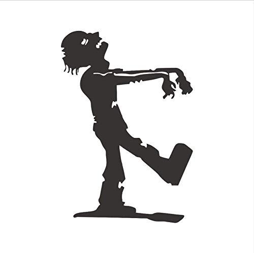 LONGTENGHEIHA Zombie Halloween Party Muster Wandaufkleber PVC Removable Home Decor DIY Retro Walking Zombie Silhouette Vinyl Wandkunst Wandbild (Party-dekoration Hausgemachte Halloween Für)