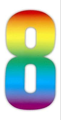 Wheelie bin numbers Rainbow 8