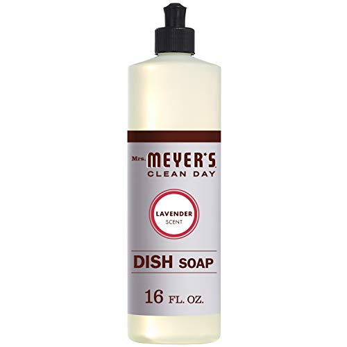 Mrs. Meyer's Clean Day Dish Soap, Lavender, 16 Ounce Bottle