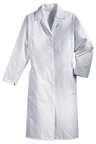 Uvex 81510 Arbeitsmantel für Damen - Langer Arbeitskittel aus 35% Baumwolle - Verwendung ALS Arztkittel oder Laborkittel - Weiß - Größe 48