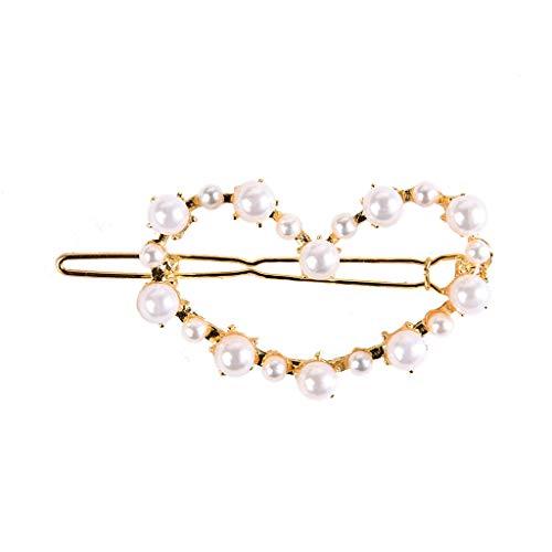 Dasongff Perle Haarspange Haarschmuck Perlen Haarnadeln Geometrische Haar Pins Metall Haarspange Hochzeit Zubehör Haarspangen Frauen Nettes Mädchen Geschenk -