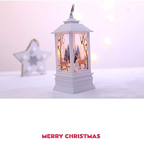 Decoraciones de Navidad para el hogar Led 1pcs Vela de Navidad con...