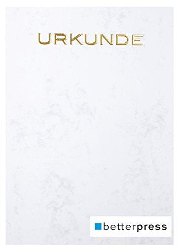 Urkunden Vordrucke Drucker Papier geprägt Reliefprägung 200 g/m² din a4 10 Stück grau Betterpress Premiumqualität (Gold)