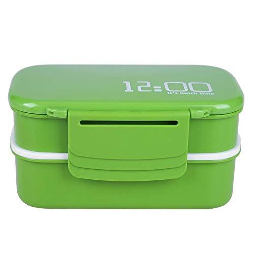 Brotdose mit doppelschichtigem Fassungsvermögen aus Kunststoff, umweltfreundlich,