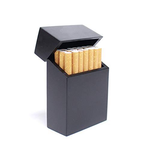 BDWY Holz Zigarettenetui große Kapazitäts-beweglicher magnetischer Schlag-Abdeckung Kasten-Zinn,B