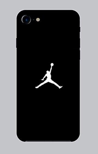 WorldSell Flexible Silikon Schutzhülle Ultra-Slim Gel TPU Bumper Cover Durchsichtige Rückschale Weiche Silikon Ultradünne Handyhülle für iPhone 7-8 Brands 028 Jordan Flexible Gelee