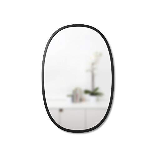 Umbra Hub Wandspiegel – Ovaler Spiegel für Diele, Badezimmer, Wohnzimmer und Mehr, Glass / Gummi,...