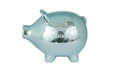 Baby Piggy Bank 60814 Sparschwein für einen regnerischen Tag, Keramik, Blau (Baby Piggy Bank)