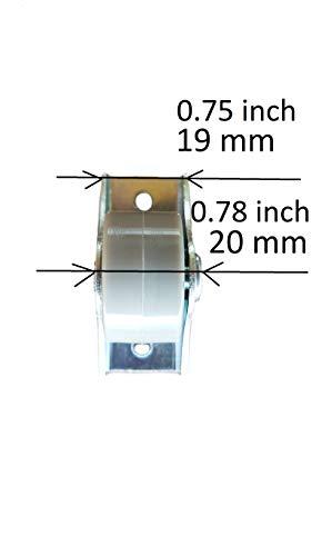 31IlTP2kABL - Rueda de goma de 25 mm de plástico giratoria doble ruedas metálicas con placa muebles electrodomésticos y equipo pequeño mini ruedas Set de 8pcs
