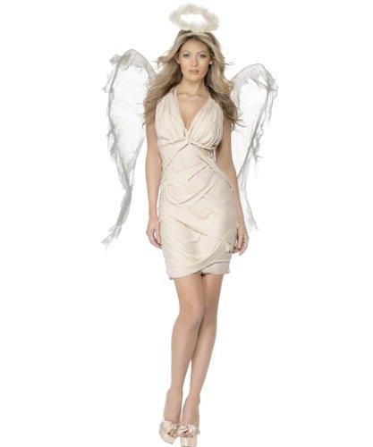 Engelkostüm Kostüm Engel für Damen cremefarben cremefarbenes Weihnachtsengel sexy Weihnachtskostüm Damenkostüm Gr. 36/38 (S), 40/42 (M), 44/46 (L), Größe:M