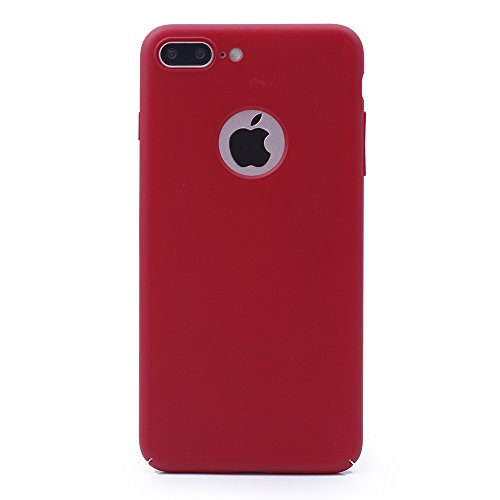 iProtect Apple iPhone 7 Plus, iPhone 8 Plus Hülle Farbverlauf Hard Case Schutzhülle orange matt rot.