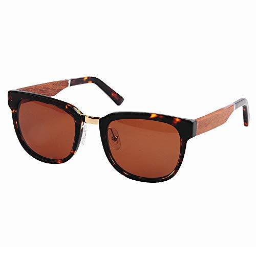 GSSTYJ Board Bamboo Sonnenbrillen mit UV400-Schutz für Männer und Frauen beim Fahren, Laufen, Freizeitsport und Aktivitäten (Farbe : Tortoise Shell)